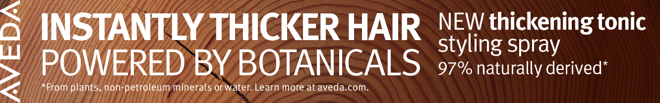 New Thickening Tonic Styling Spray Powered by Botanicals from Aveda