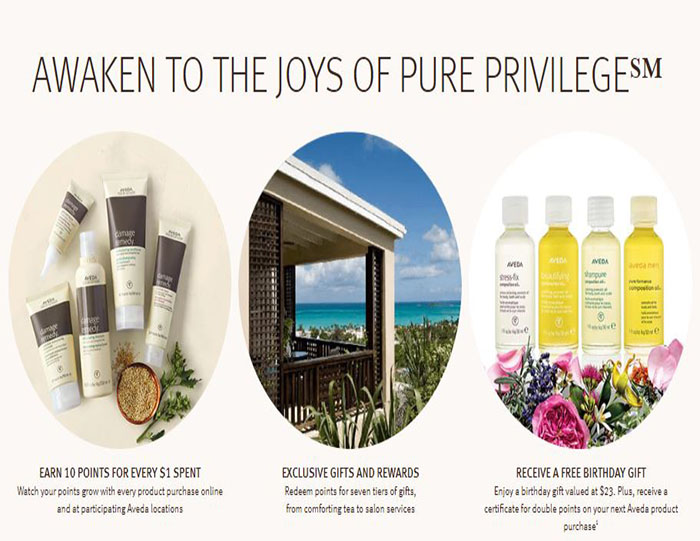 Be rewarded today when you join Aveda Pure Privilege Program